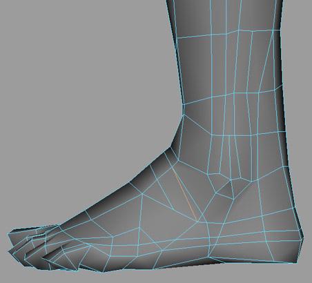 用maya做脚的建模教程