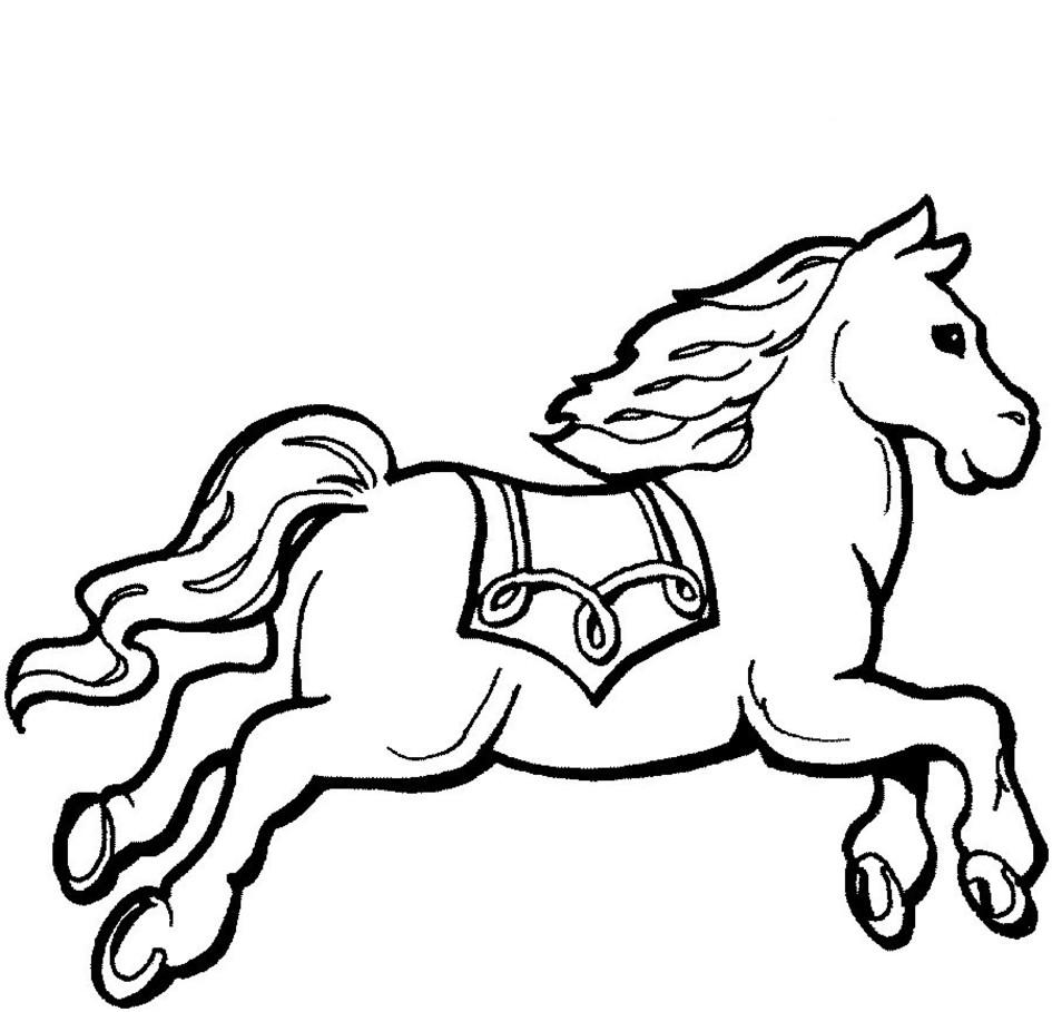 6张英俊挺拔的马的简笔画