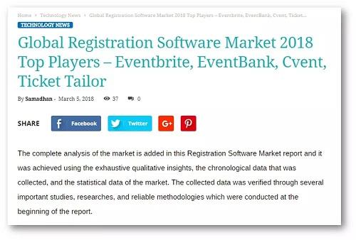 全球注册软件市场最新排名,EventBank捷会易蹿升全球前三