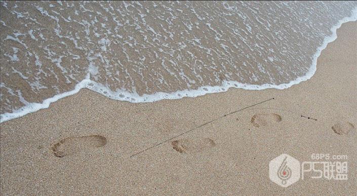 沙滩字,用PS制作浪漫唯美的沙滩泡沫字
