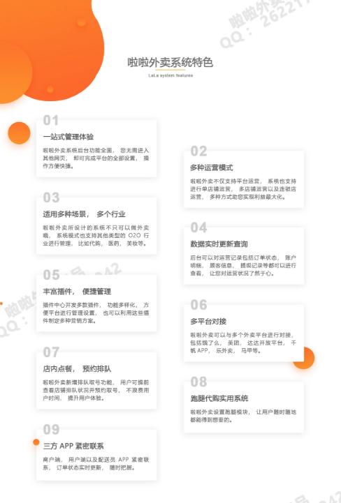 啦啦外卖餐饮跑腿小程序v 30.5.0完整版+多端前端+App+全插件-10